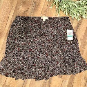 MICHAEL Michael Kors Ruffled Mini Skirt Large
